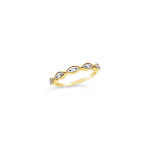 Gold Diamond Stacker Ring