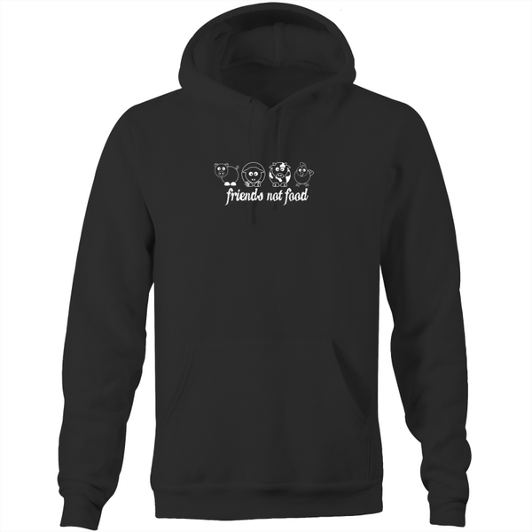 Friends Not Food - Animals White - Hoodie