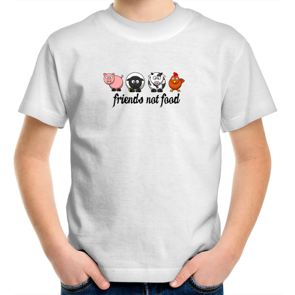 Friends Not Food - Animals Black - Kids