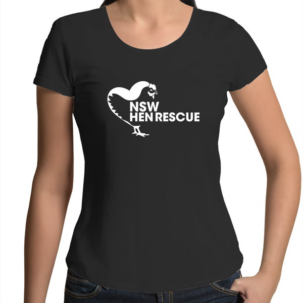 NSW Hen Rescue - Scoop Neck - Ladies