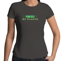 Powered By Plants - Minimal Lines Green - Ladies