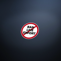 Ban Live Export Printed Vinyl Sticker