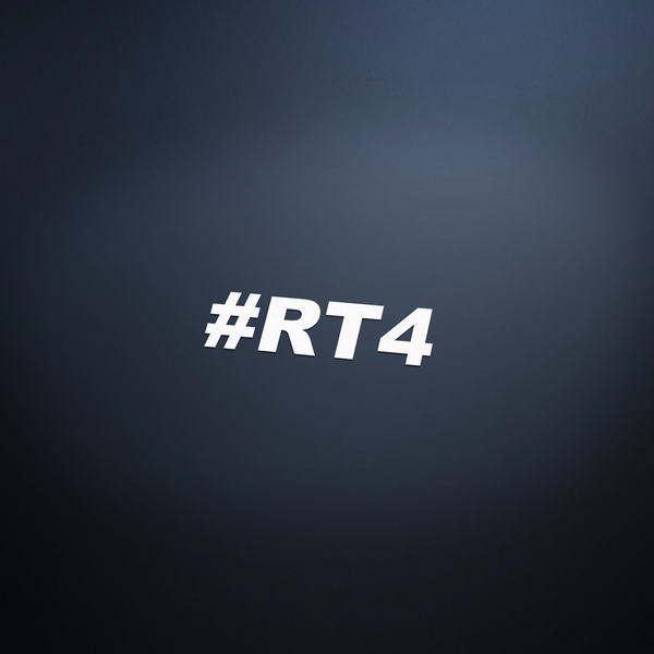 #RT4 Vinyl Sticker - White