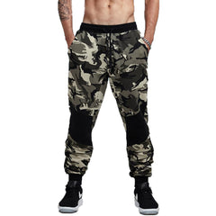 Camouflage Jogger Pants Men Fitted Sweatpants