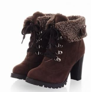 Women's fashion plus size high-heeled boots high quality cotton
