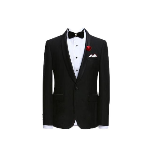 Mens Suits Jacket Pants Formal Dress Men Suit Set