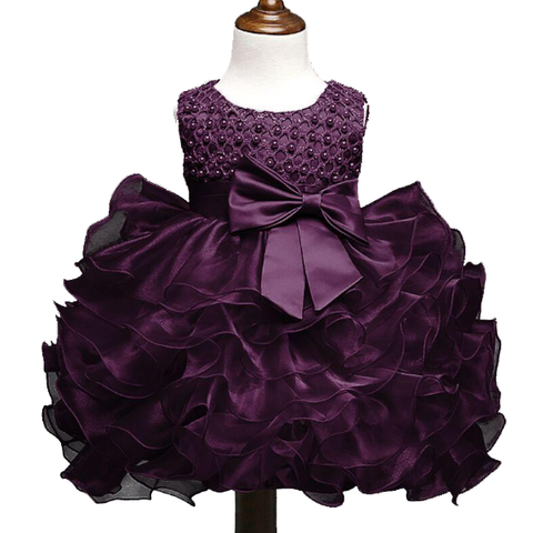 Summer Newborn Formal Dress Purple Sleeveless