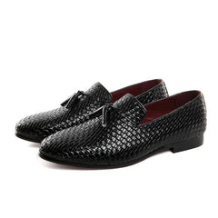 Men luxury Shoes Braid Leather Casual Driving Oxfords Men Loafers Moccasins Flats