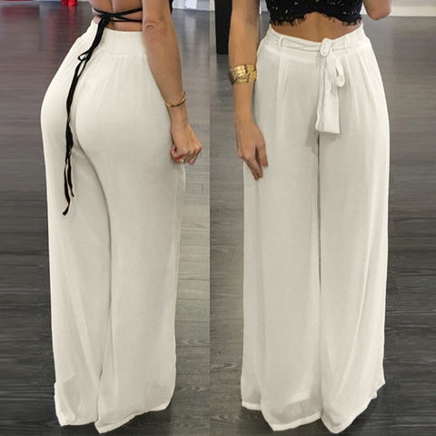 Chiffon Pants Autumn Fashion Sexy Women Wide Leg Pants