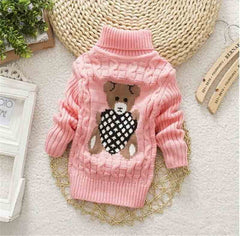 Baby Girls Boys Pullovers Turtleneck Sweaters