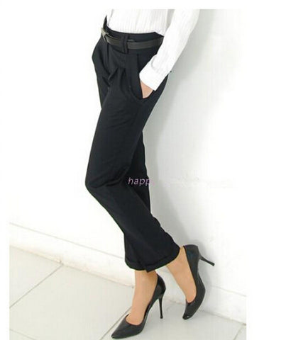 Women Pants High Waist Casual Pants Ladies Elegant Slim Plus Size Pants Women