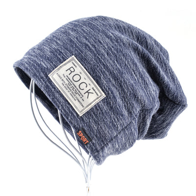 Winter beanies men hats Rock logo Casual Cap Turban hat bonnet plus velvet caps for men beanie