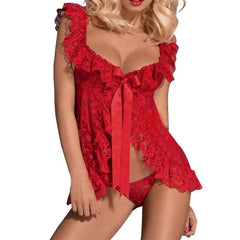 Sexy Lingerie Costumes Lace Sleepwear Nightgown + G String