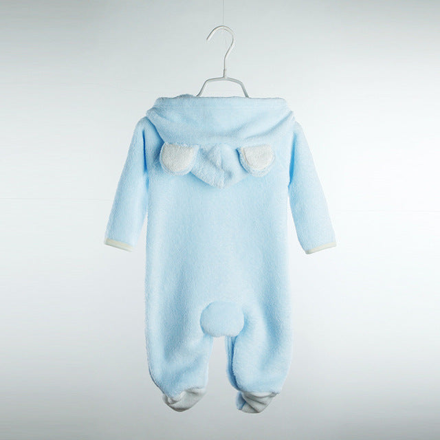 Newborn baby romper Coral Fleece Winter Infant clothes Long sleeve