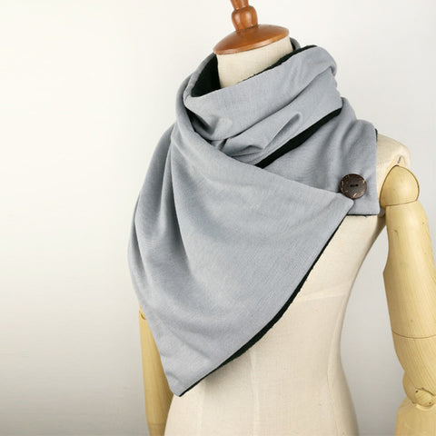 Mens infinity Scarf,Button Cowl Neck warmer Chunky tube Scarf women Gift scarves wraps