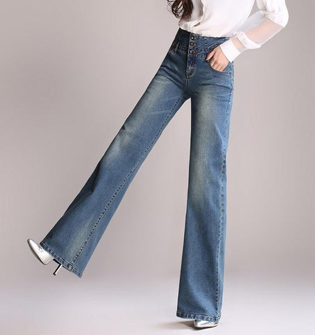 High waist wide leg jeans women pants loose jeans plus size full length trousers