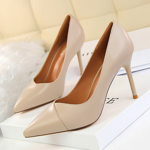Women shoes thin and simple occupation women's shoes with high and shallow pointed single
