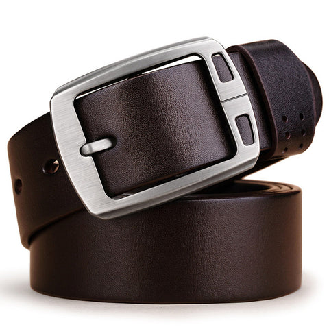 Genuine leather belts for men brand cowhide adjustable Strap male pin buckle fashion vintage