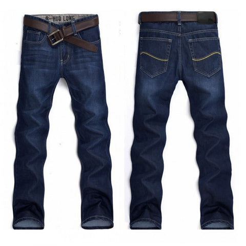 Men jeans Classical Straight Slim fashion Men Jeans Dark Blue Jeans