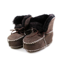 Baby Winter Sheepskin Fur First Walkers Infant