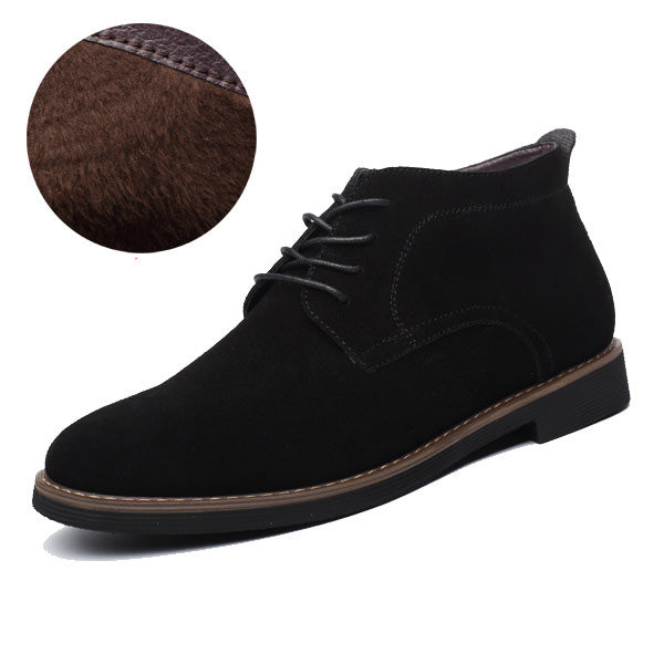 Men Casual Leather Ankle Boots
