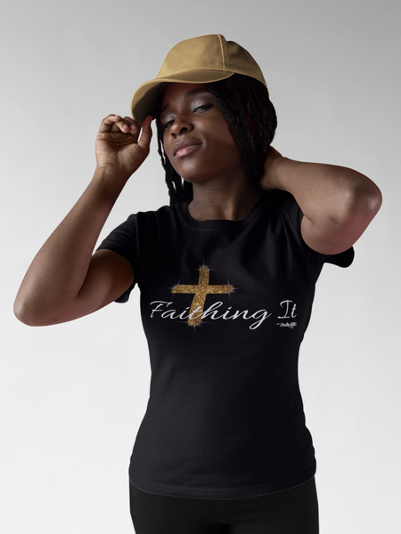Faithing It (White) tee - IndiWrites