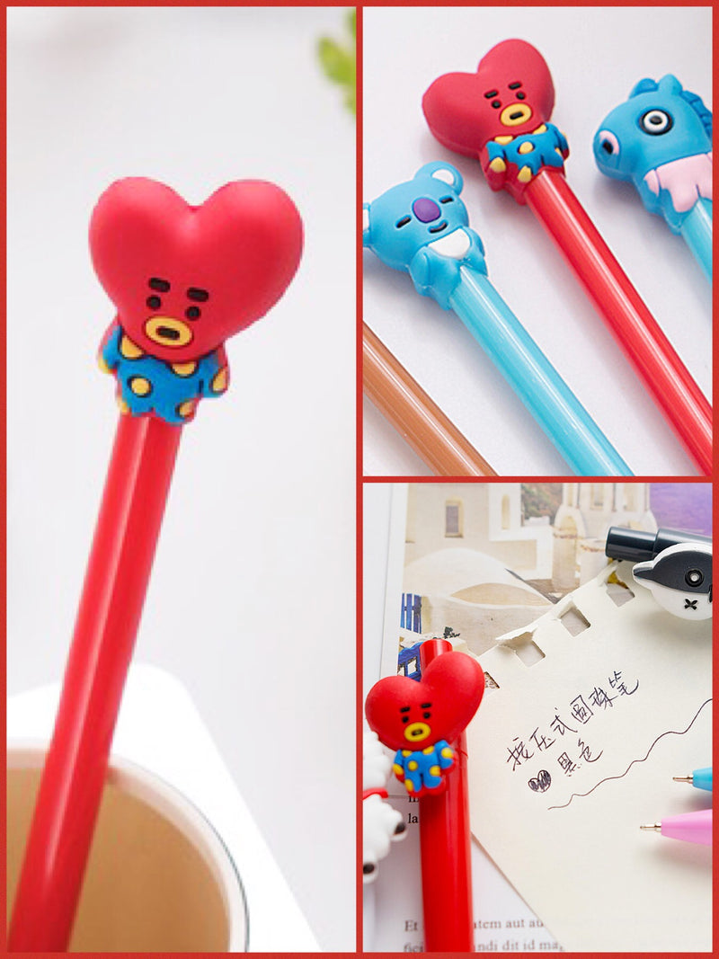 BlissGirl - Gel Pen Friend - Heart / 0.5mm - Harajuku - Kawaii - Alternative - Fashion