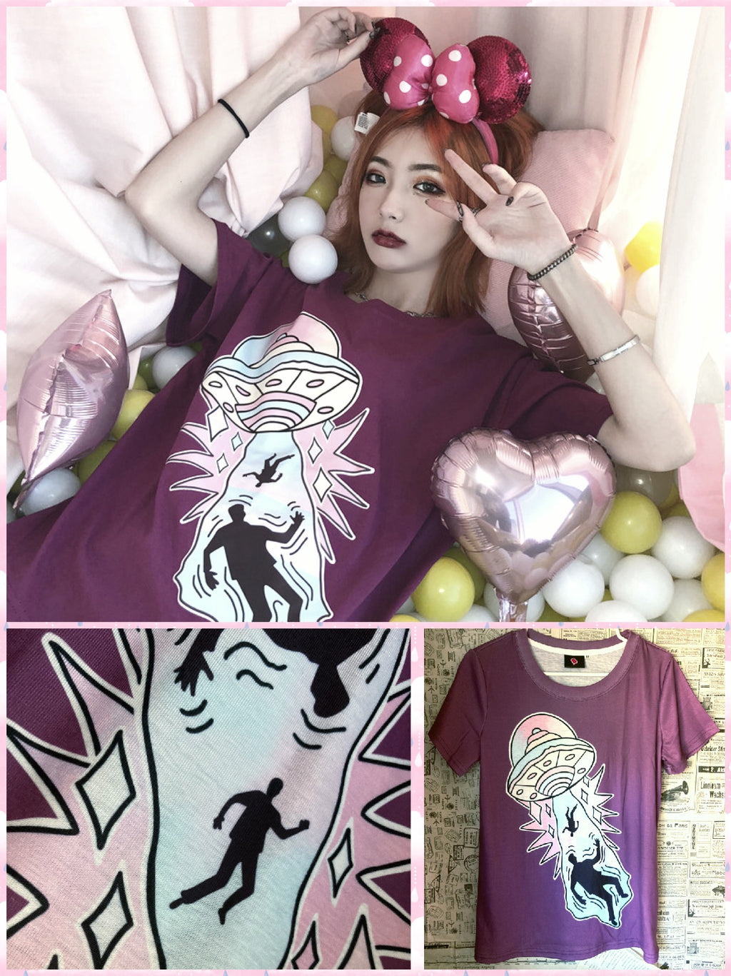 BlissGirl - Take Me With You Tee - S - Harajuku - Kawaii - Alternative - Fashion