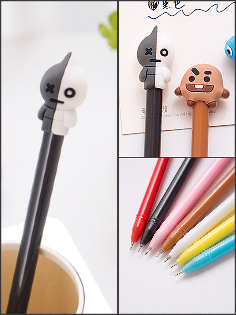 BlissGirl - Gel Pen Friend - Robot / 0.5mm - Harajuku - Kawaii - Alternative - Fashion