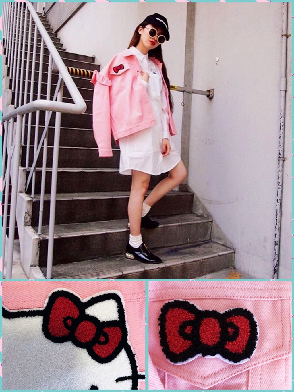 BlissGirl - Hello Kitty Ruffle Jacket - Harajuku - Kawaii - Alternative - Fashion