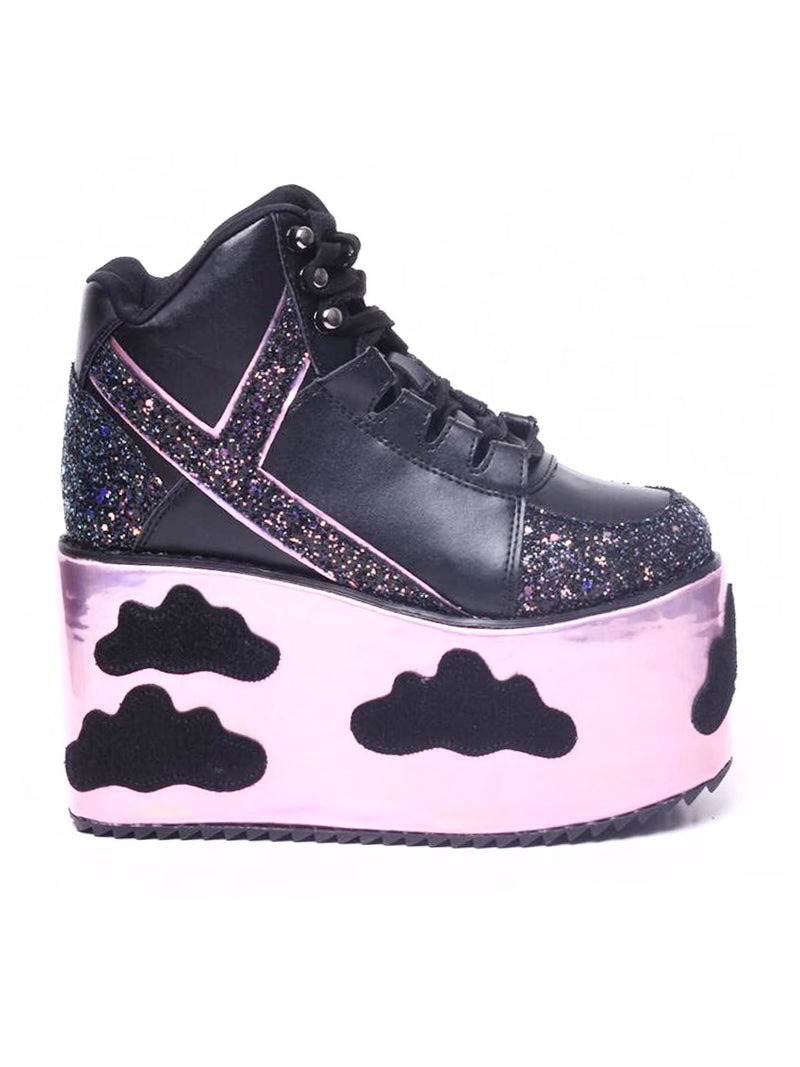 BlissGirl - I'm In The Clouds Platform Shoes - Black / 40 - Harajuku - Kawaii - Alternative - Fashion