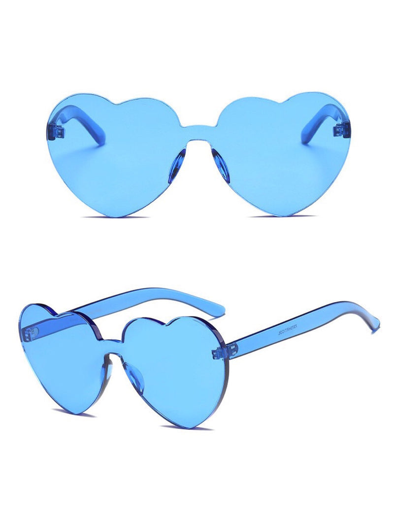 BlissGirl - I Heart You Shades - Light Blue - Harajuku - Kawaii - Alternative - Fashion