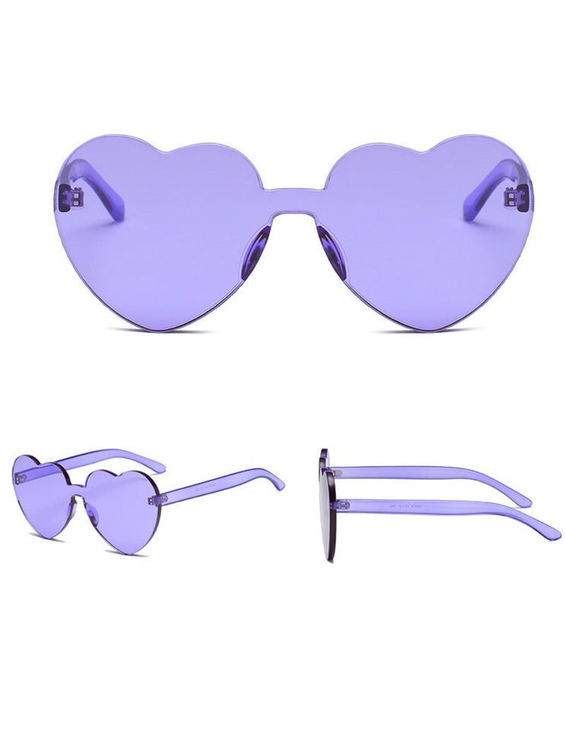 BlissGirl - I Heart You Shades - Purple - Harajuku - Kawaii - Alternative - Fashion