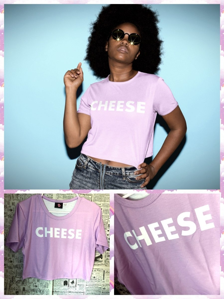 BlissGirl - All You Need is Cheese Tee - XS - Harajuku - Kawaii - Alternative - Fashion