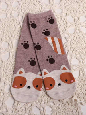 BlissGirl - Animal Socks - Red Panda - Harajuku - Kawaii - Alternative - Fashion