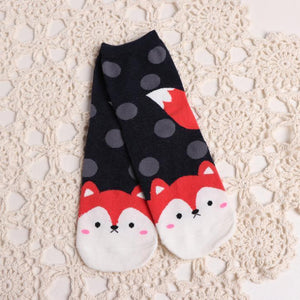 BlissGirl - Animal Socks - Fox - Harajuku - Kawaii - Alternative - Fashion