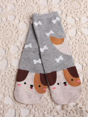 BlissGirl - Animal Socks - Dog - Harajuku - Kawaii - Alternative - Fashion