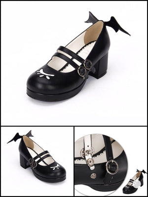 BlissGirl - Flirty Mary Janes - Black / 40 - Harajuku - Kawaii - Alternative - Fashion