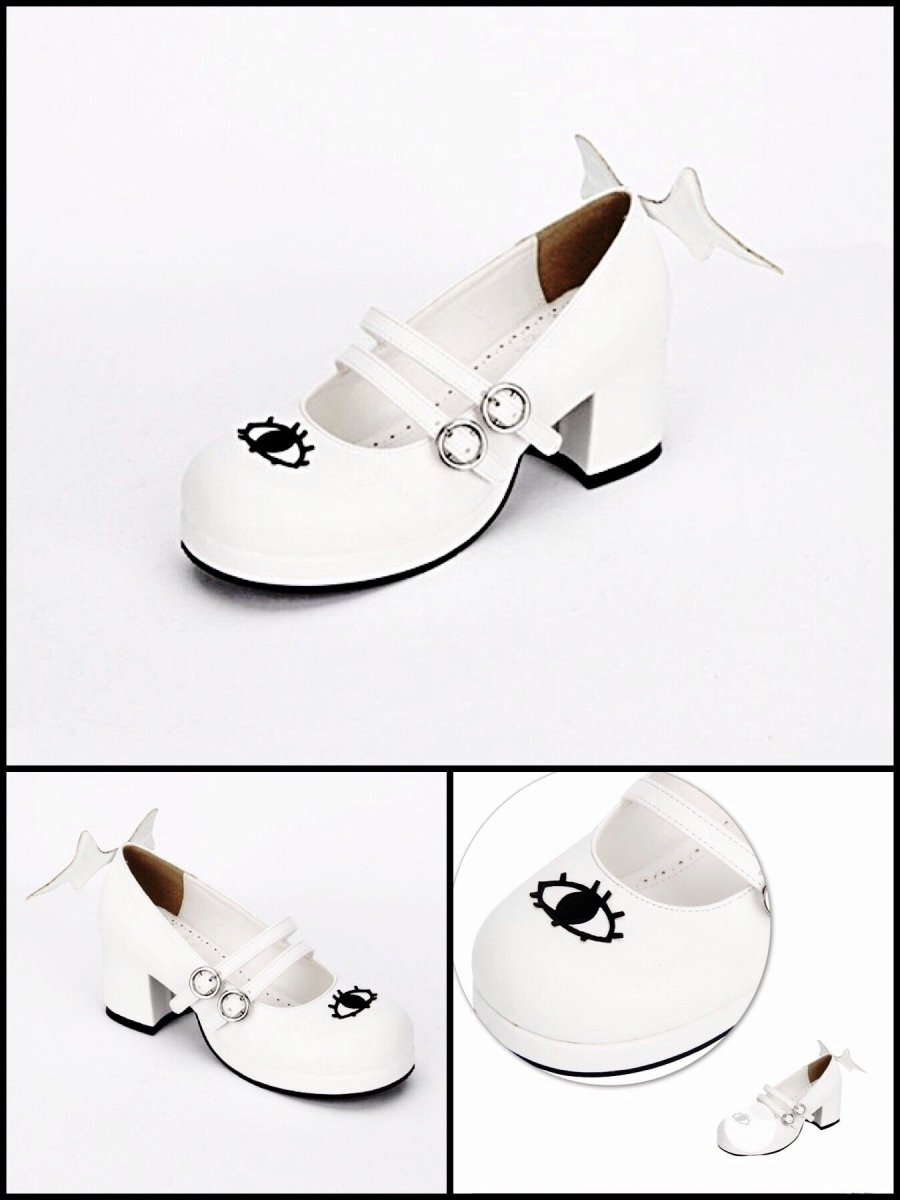 BlissGirl - Flirty Mary Janes - White / 34 - Harajuku - Kawaii - Alternative - Fashion