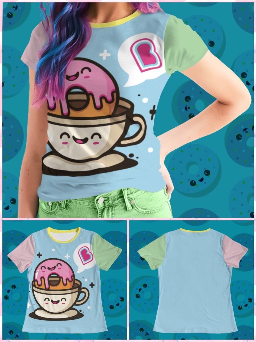 BlissGirl - BlissGirl Coffee & Donut Love Tee - S - Harajuku - Kawaii - Alternative - Fashion
