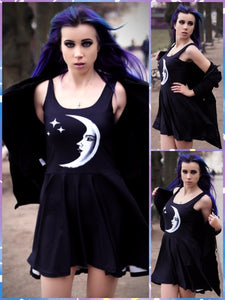 BlissGirl - BlissGirl Mood Moon Dress - XL - Harajuku - Kawaii - Alternative - Fashion