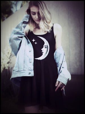 BlissGirl - BlissGirl Mood Moon Dress - Harajuku - Kawaii - Alternative - Fashion