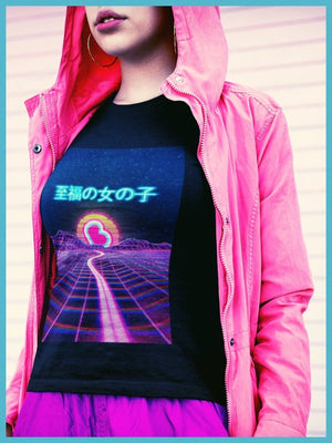 BlissGirl - BlissGirl VaporWave Sunset Tee - Harajuku - Kawaii - Alternative - Fashion