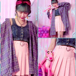 BlissGirl - Buckled Up Heart Skirt - Harajuku - Kawaii - Alternative - Fashion