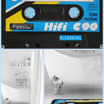 BlissGirl - Cassette Tape Floor Mat - Blue - Harajuku - Kawaii - Alternative - Fashion