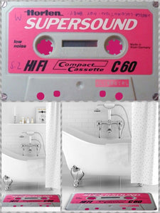BlissGirl - Cassette Tape Floor Mat - Pink - Harajuku - Kawaii - Alternative - Fashion