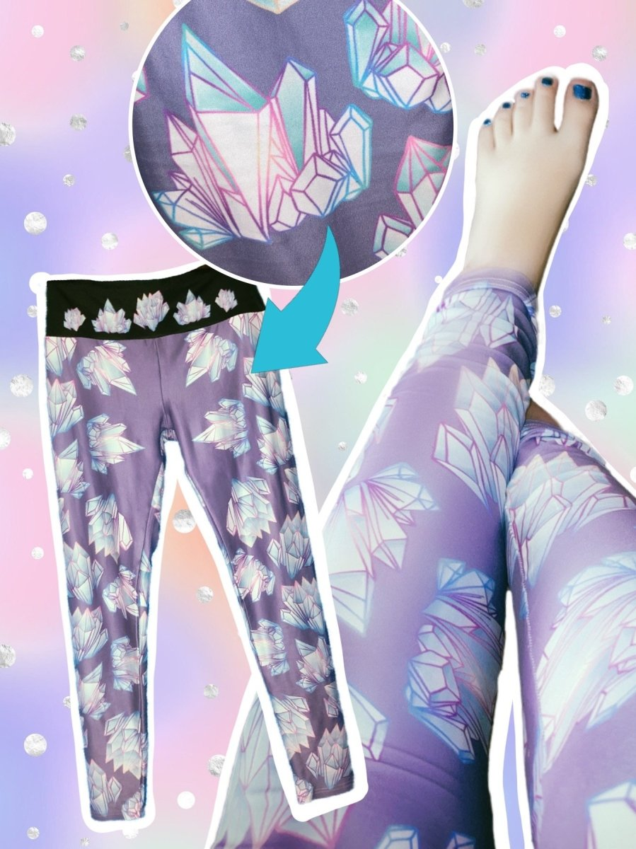BlissGirl - Crystal Leggings - XS - Harajuku - Kawaii - Alternative - Fashion