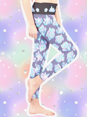BlissGirl - Crystal Leggings - Harajuku - Kawaii - Alternative - Fashion