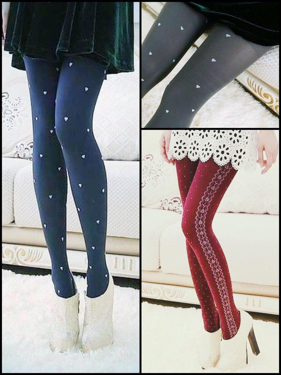 BlissGirl - Cute Winter Tights - Harajuku - Kawaii - Alternative - Fashion