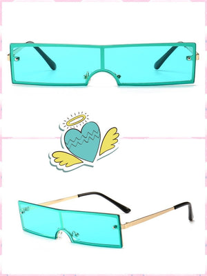 BlissGirl - Cyberpunk Shades - Green - Harajuku - Kawaii - Alternative - Fashion